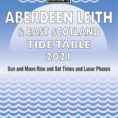 2021 Aberdeen, Leith & East Scotland Tide Table