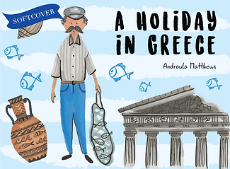 A Holiday in Greece Softcover Book