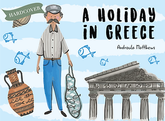 A Holiday in Greece Hardcover Book