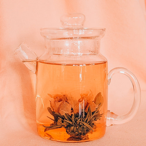 Blooming Tea - White Tea, Peony Flower, Hibiscus, Wild Raspberry, and Strawberry