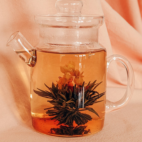 Blooming Tea - Green Tea, Jasmine, Red Lilly, and Peach Flavour