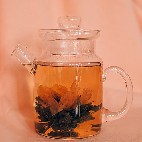 Blooming Tea - White Tea, Butterfly Pea, Peony Flower, and Blueberry Flavour
