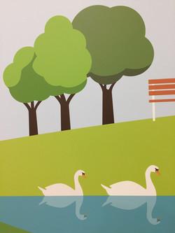 Detalle con cisnes