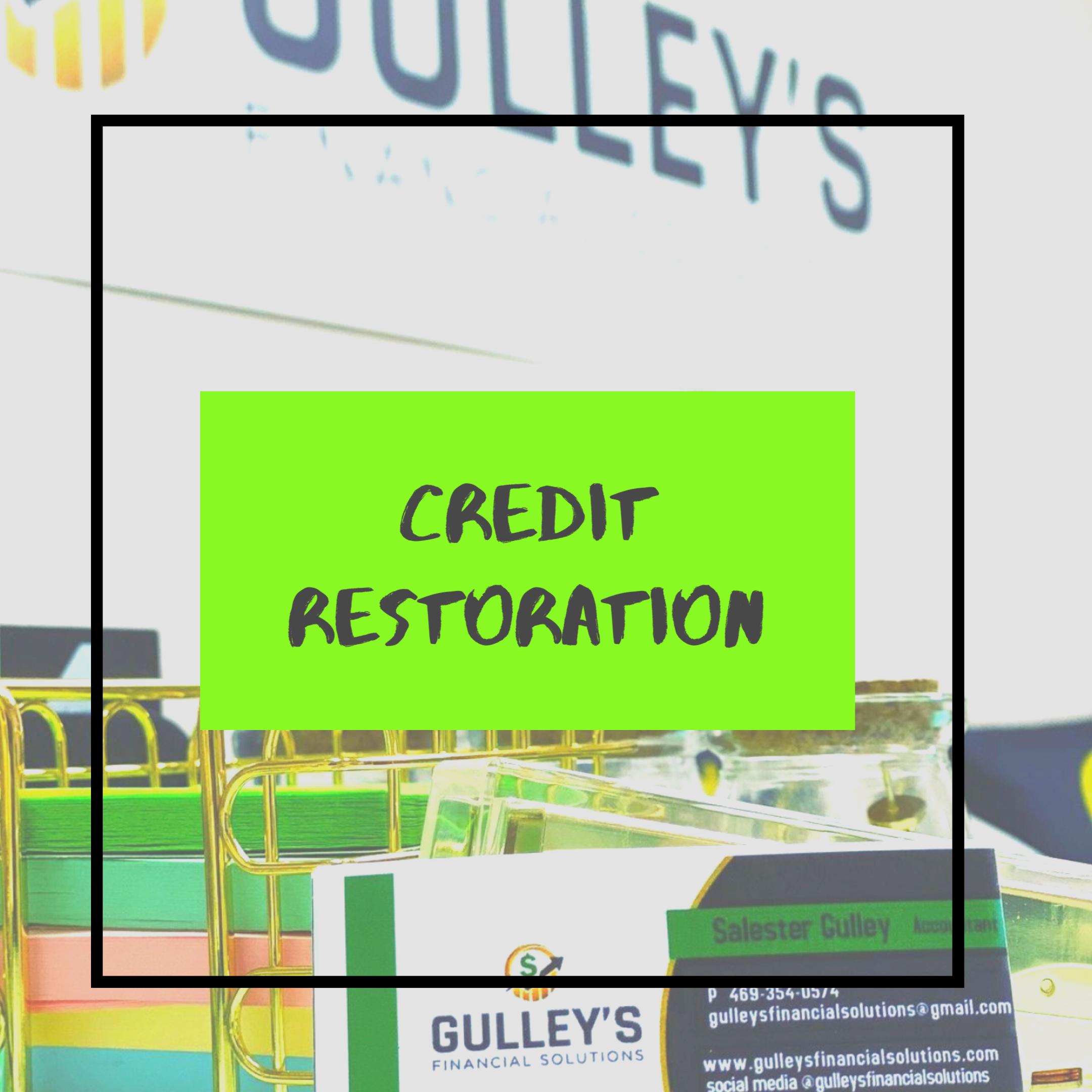 Credit Restoration Enrollment