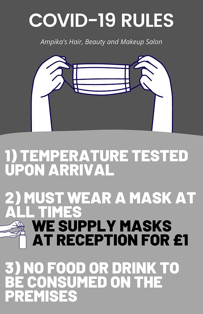 Purple and White Proper Mask Use COVID F