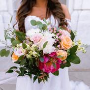 peony & eucalyptus bouquet -Erin Schmidt photo