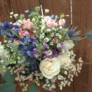 Blue and Pink Bouquet