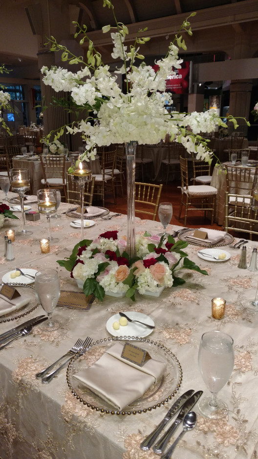 White Orchids centerpiece