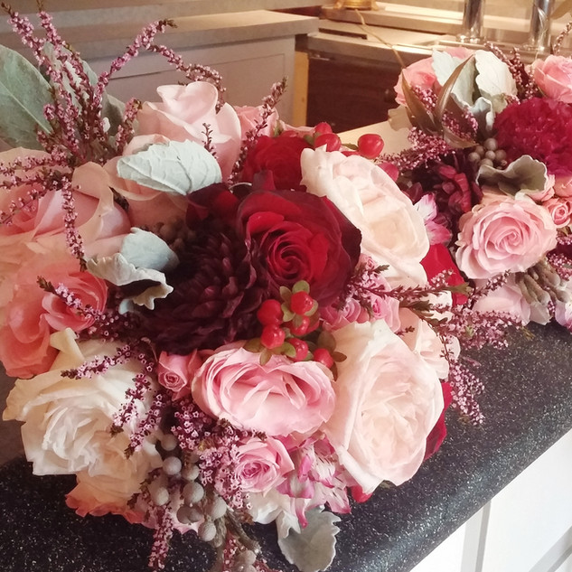 Pale pink and Burgundy bouquets.jpg