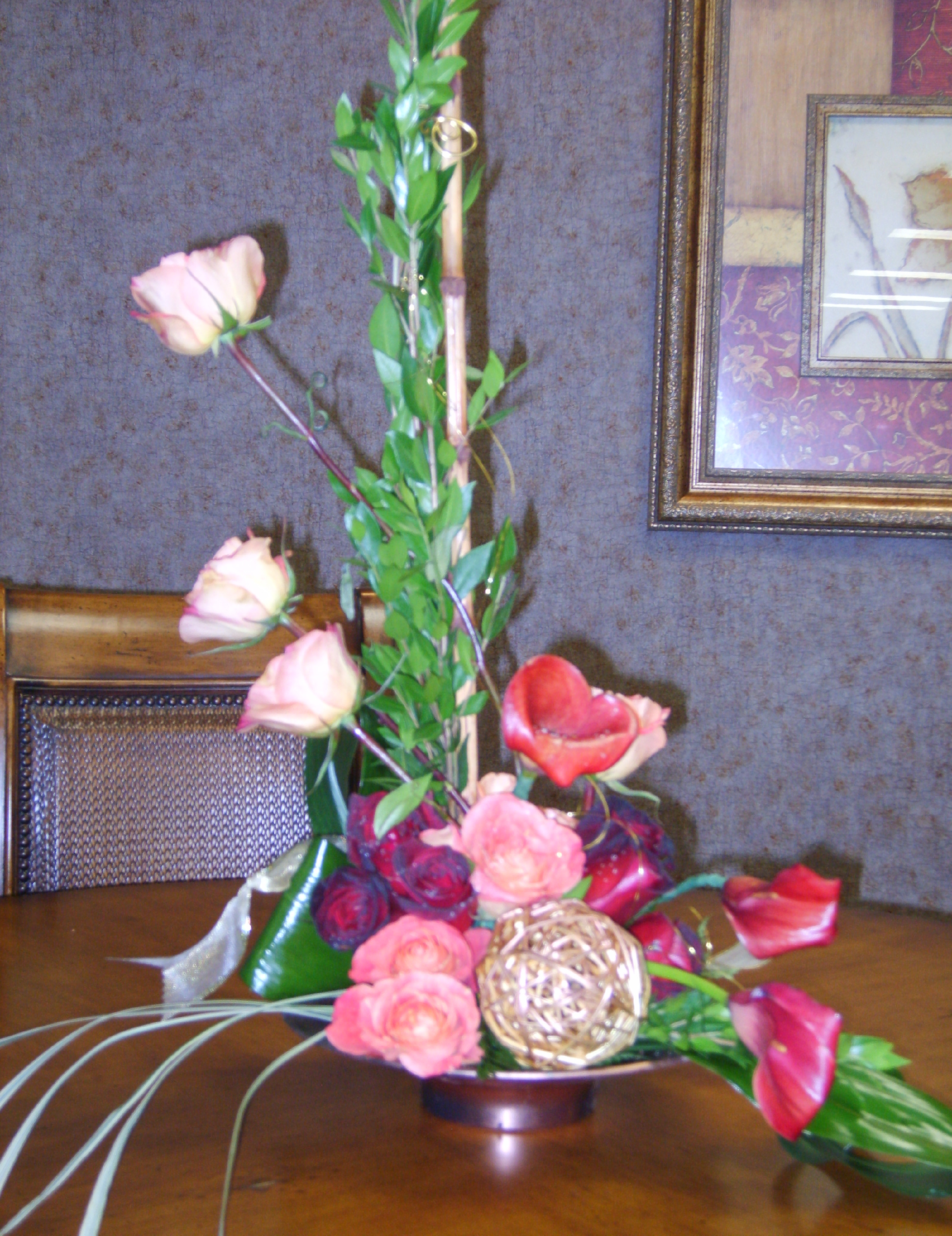 Roses & Calla lily Office flower