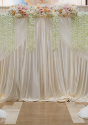 White Draping Backdrop