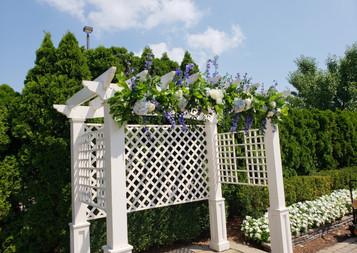 Blue wedding -ceremony
