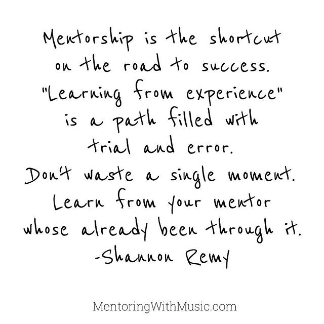 Words of Wisdom From Mentee Shannon