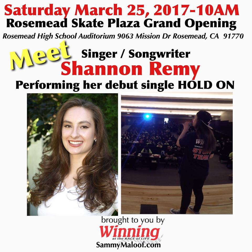 Meet Singer Songwriter Shannon Remy Performing her Debut Single June 25, 2017
