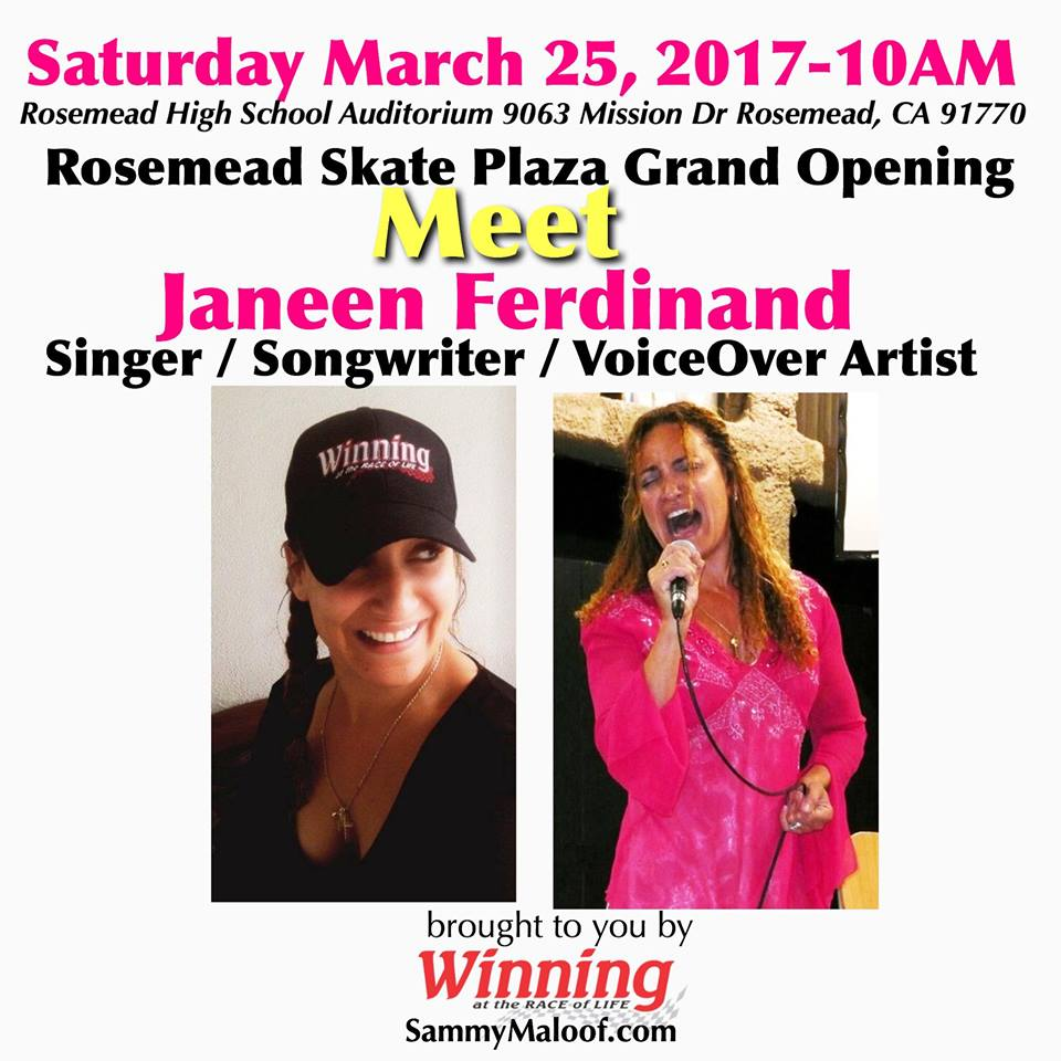 Meet Singer Songwriter Janeen Ferdinand Rosemead SkatePark Grand Opening