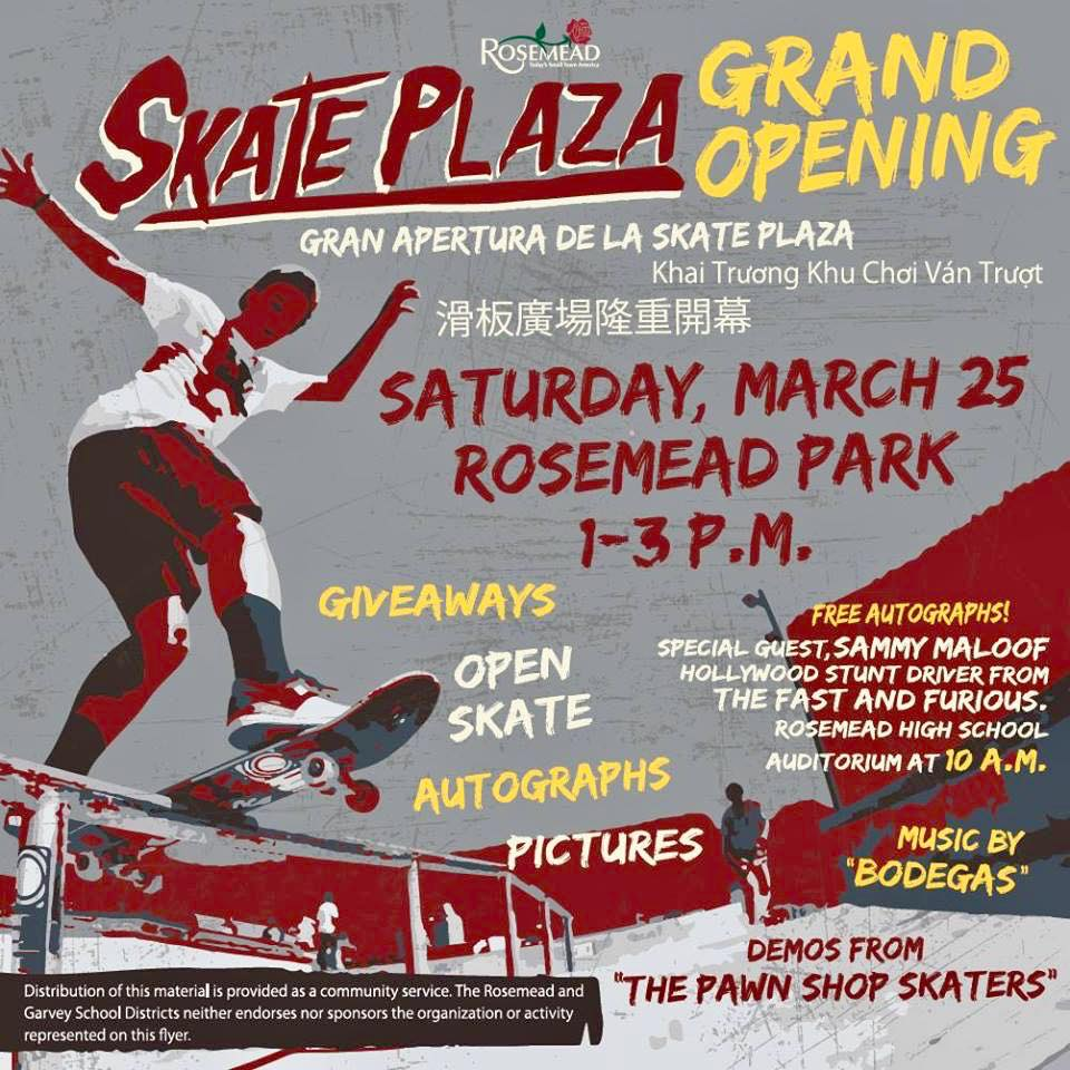 Catch our Live Performance Rosemead CA Skatepark Grand Opening