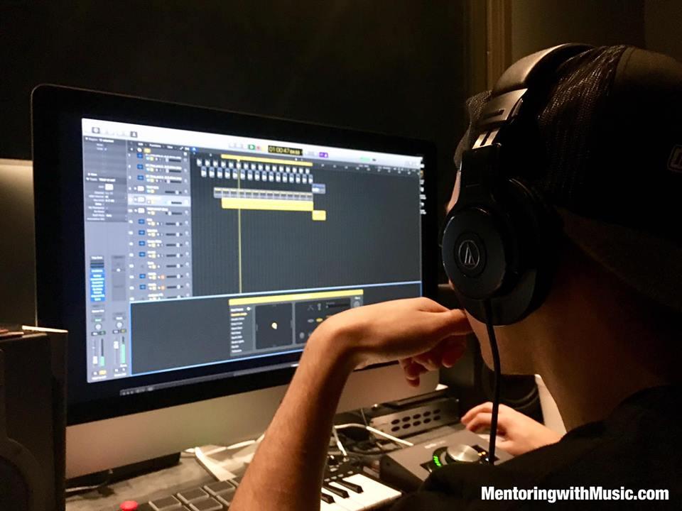 Recording with Josh