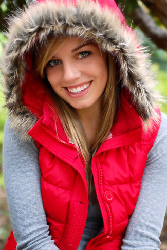 Fur Lined Coat used in Senior Portraits by Crystal Nance Photography