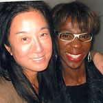 Novia hangs out with Vera Wang at Jennifer Hudson's listening party.
