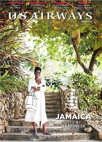 Article cover of Novia's feature in th US Airways Magazine.