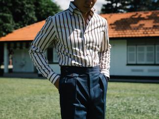 Albini Brown Stripes Shirt 10.jpg
