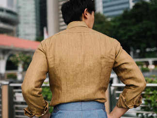 Thomas Mason Yellow Linen Shirt 1.jpg