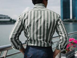 Albini Green Stripes Linen Shirt 5.jpg