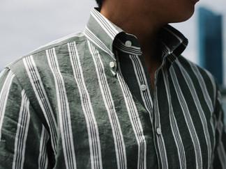 Albini Green Stripes Linen Shirt 3.jpg