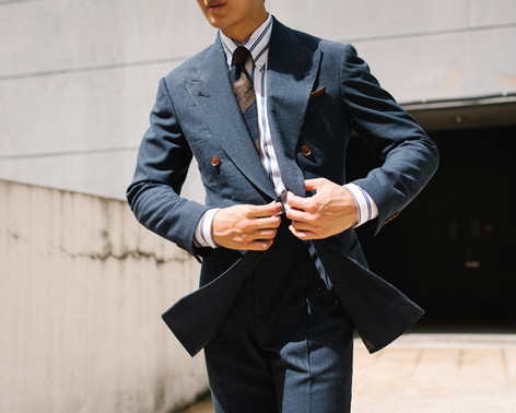Air Force Blue Double Breasted Suit 2.jp