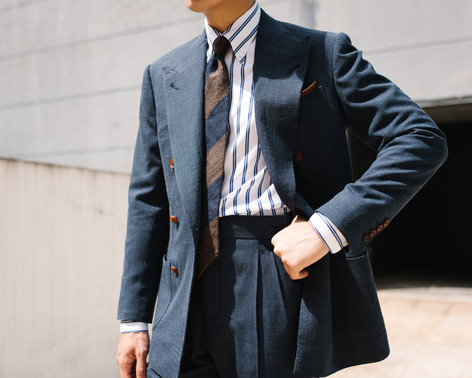 Air Force Blue Double Breasted Suit 1.jp