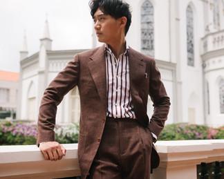 Cinnamon Brown Wool Silk Linen Suit 7.jp