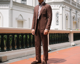 Cinnamon Brown Wool Silk Linen Suit 1.jp