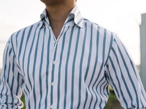 Albini Blue Stripe Shirt 5.jpg
