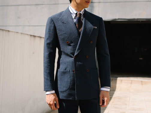 Air Force Blue Double Breasted Suit 4.jp
