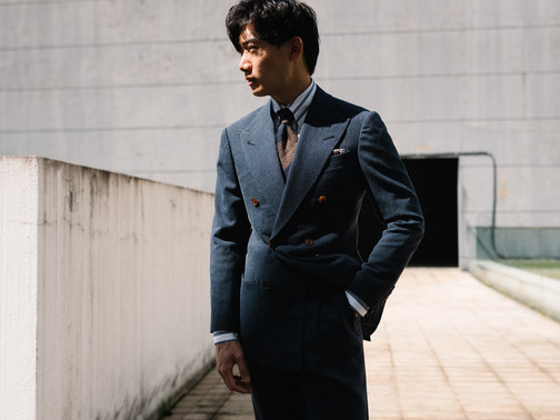 Air Force Blue Double Breasted Suit 10.j