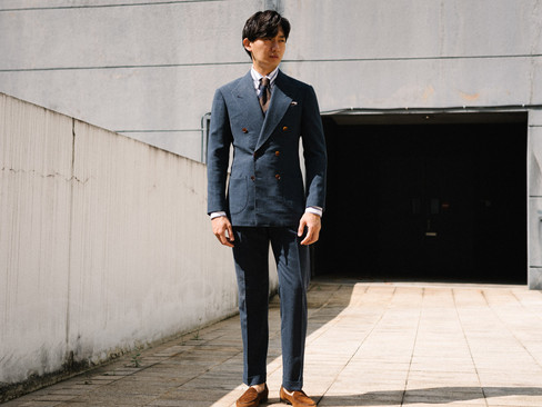 Air Force Blue Double Breasted Suit 5.jp