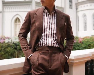 Cinnamon Brown Wool Silk Linen Suit 4.jp