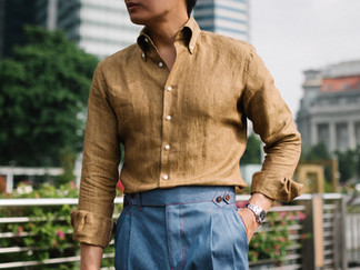 Thomas Mason Yellow Linen Shirt 4.jpg
