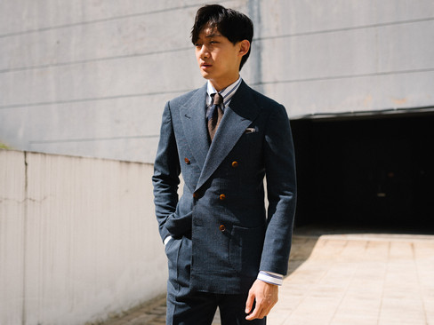 Air Force Blue Double Breasted Suit 3.jp