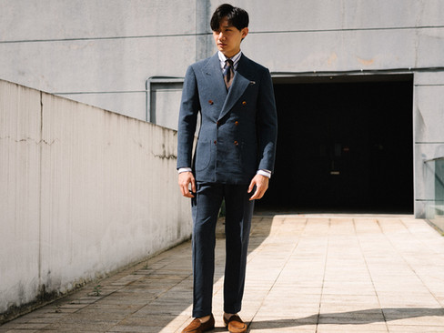 Air Force Blue Double Breasted Suit 6.jp
