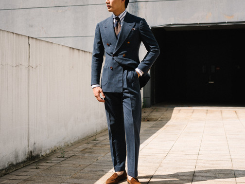 Air Force Blue Double Breasted Suit 7.jp
