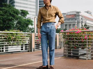 Thomas Mason Yellow Linen Shirt 6.jpg