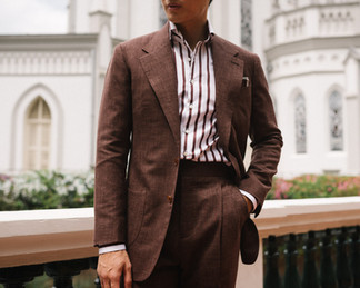 Cinnamon Brown Wool Silk Linen Suit 2.jp