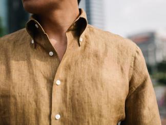 Thomas Mason Yellow Linen Shirt 3.jpg