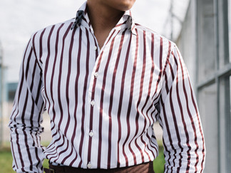 Albini Brown Stripes Shirt 6.jpg
