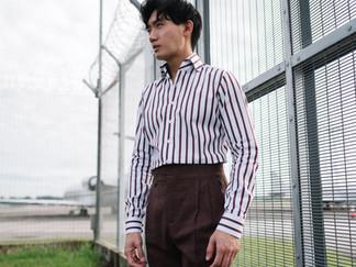 Albini Brown Stripes Shirt 5.jpg