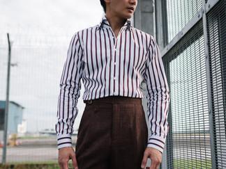 Albini Brown Stripes Shirt 4.jpg