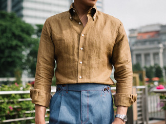 Thomas Mason Yellow Linen Shirt 5.jpg