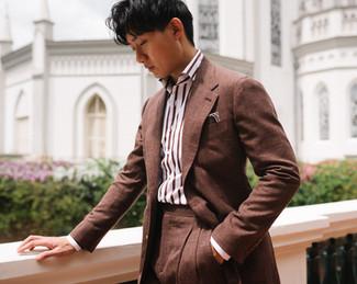 Cinnamon Brown Wool Silk Linen Suit 3.jp
