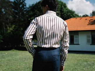 Albini Brown Stripes Shirt 8.jpg